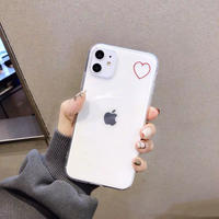 One red heart clear iphone case