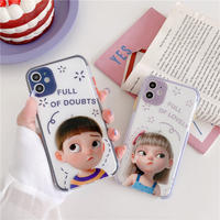 Full of doubts boy girl iphone case