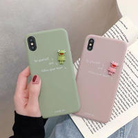 Frog green pink  iphone case