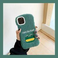 Sad frog fur iphone case