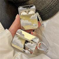 Cloud silver airpods case