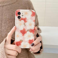 White red flower iphone case