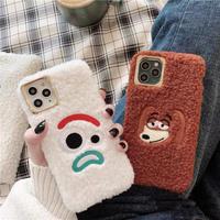 Cartoon fur brown white iphone case