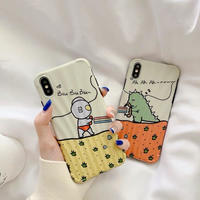 Orange yellow cartoon  iphone case