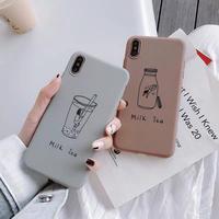 Milk tea brown grey iphone case