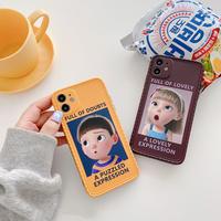 Cartoon boy girl expression iphone case