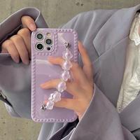 Small purple strap iphone case