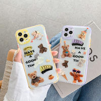 Have a good time bear color side iphone case