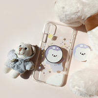 Universe bear with grip iphone case