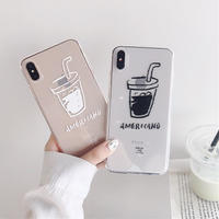Americano clear iphone case
