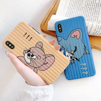 Mouse cat  yellow blue iphone case