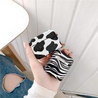 Zebra cow pattern airpods case