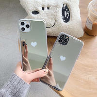 Silver heart iphone case