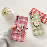 Fruits check with grip iphone case