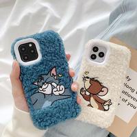 Mouse cat white blue fur iphone case