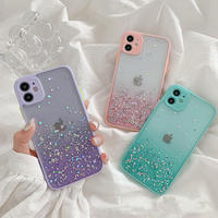 Purple pink mint glitter iphone case