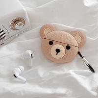 Beige bear airpods case