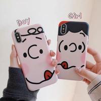 Cartoon face iphone case