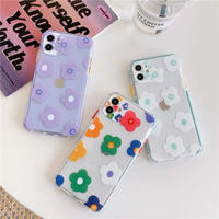 Multi flowers color side iphone case