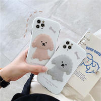 Poodle white iphone case