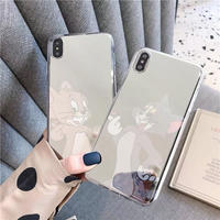 Mouse cat soft mirror iphone case