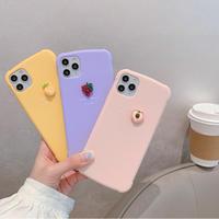 Pineapple grape peach iphone case