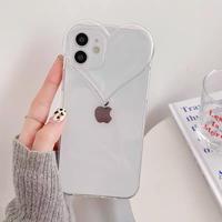 Heart shape clear iphone case