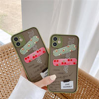 Avocado strawberry bandage color side iphone case