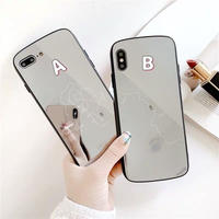 White line mirror iphone case