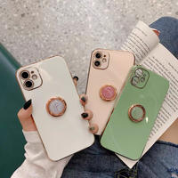 White pink matcha metal color grip iphone case