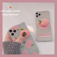 Peach 3d clear iphone case