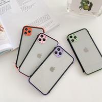 Color lens frame black side iphone case