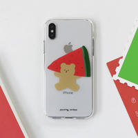 Watermelon bear clear case (Red) 531