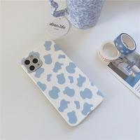 Blue milk cow pattern iphone case