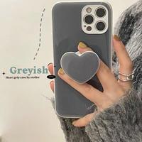 Greyish heart grip iphone case