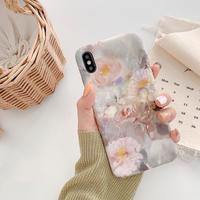 Greyish flower drawing iphone case