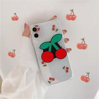 Big cherry grip clear iphone case