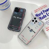 My phone clear iphone case