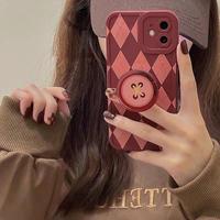 Autumn button grip iphone case