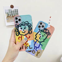 Boy girl color drawing iphone case