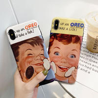Oreo boy and girl iphone case