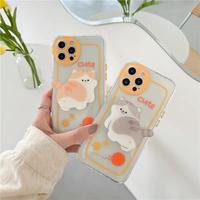 Cute cat grip iphone case