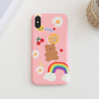 Dreaming bear hard with grip case(pink) 510