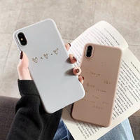 Love letter brown grey iphone case
