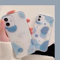 Blue pattern glitter iphone case
