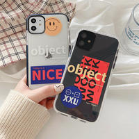 Object smile red iphone case