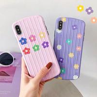 Pink purple flower iphone case