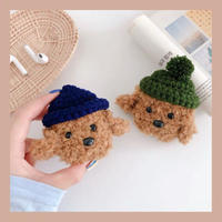 ⚠発送遅延⚠Dog fur hat airpods case