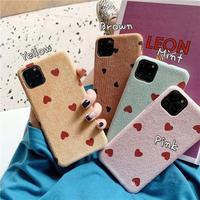Heart dot fabric iphone case