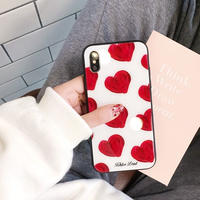Big red heart iphone case
